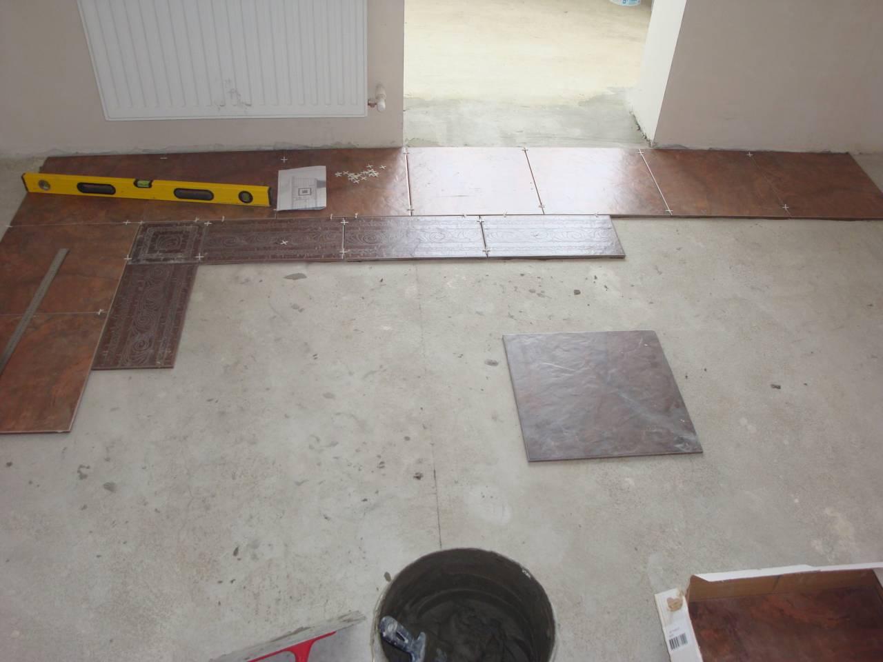 Укладка плитки на пол. Как правильно